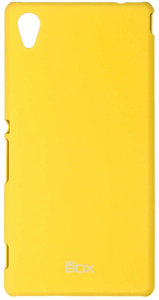 Skinbox 4People чехол для Sony Xperia M4 Aqua, YellowT-S-SXM4A-002Чехол - накладка Skinbox 4People для Sony Xperia M4 Aqua бережно и надежно защитит ваш смартфон от пыли, грязи, царапин и других повреждений. Чехол оставляет свободным доступ ко всем разъемам и кнопкам устройства. В комплект также входит защитная пленка на экран.