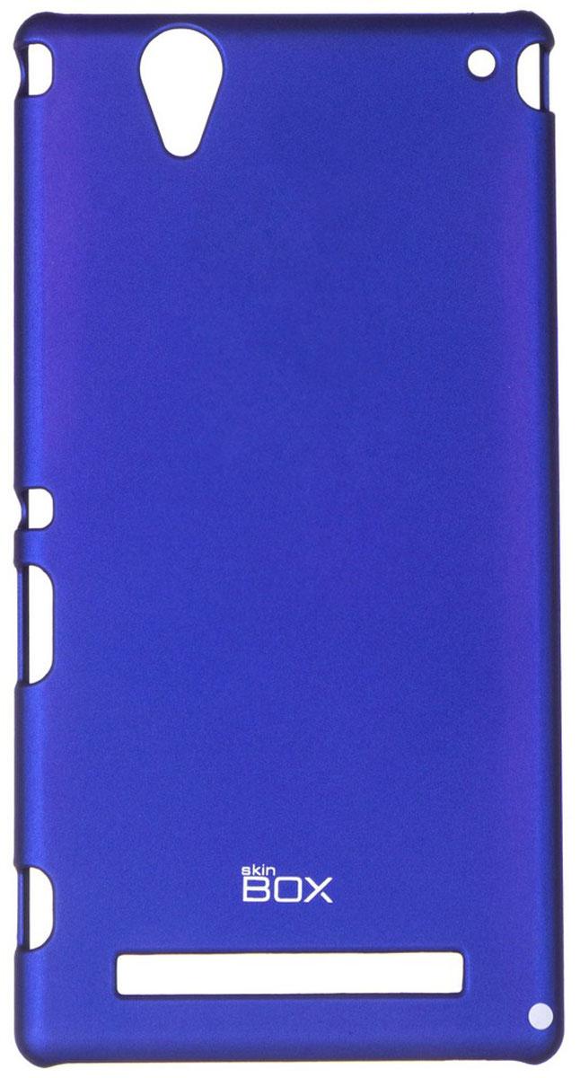 Skinbox 4People чехол для Sony Xperia T2 Ultra, BlueT-S-SXT2U-002Чехол - накладка Skinbox 4People для Sony Xperia T2 Ultra бережно и надежно защитит ваш смартфон от пыли, грязи, царапин и других повреждений. Чехол оставляет свободным доступ ко всем разъемам и кнопкам устройства. В комплект также входит защитная пленка на экран.