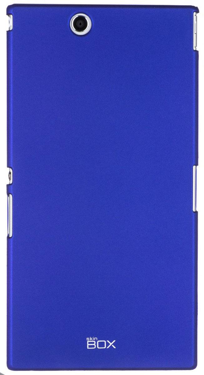 Skinbox 4People чехол для Sony Xperia Z Ultra, BlueT-S-SXZU-002Чехол - накладка Skinbox 4People для Sony Xperia Z Ultra бережно и надежно защитит ваш смартфон от пыли, грязи, царапин и других повреждений. Чехол оставляет свободным доступ ко всем разъемам и кнопкам устройства. В комплект также входит защитная пленка на экран.