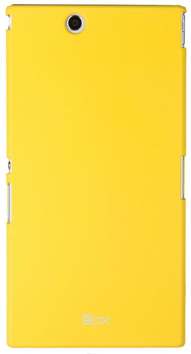 Skinbox 4People чехол для Sony Xperia Z Ultra, YellowT-S-SXZU-002Чехол - накладка Skinbox 4People для Sony Xperia Z Ultra бережно и надежно защитит ваш смартфон от пыли, грязи, царапин и других повреждений. Чехол оставляет свободным доступ ко всем разъемам и кнопкам устройства. В комплект также входит защитная пленка на экран.