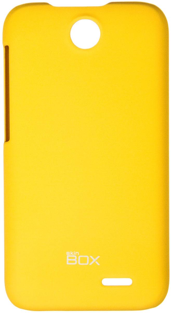 Skinbox 4People чехол для HTC Desire 310, YellowT-S-HD310-002Чехол - накладка Skinbox 4People для HTC Desire 310 бережно и надежно защитит ваш смартфон от пыли, грязи, царапин и других повреждений. Чехол оставляет свободным доступ ко всем разъемам и кнопкам устройства. В комплект также входит защитная пленка на экран.