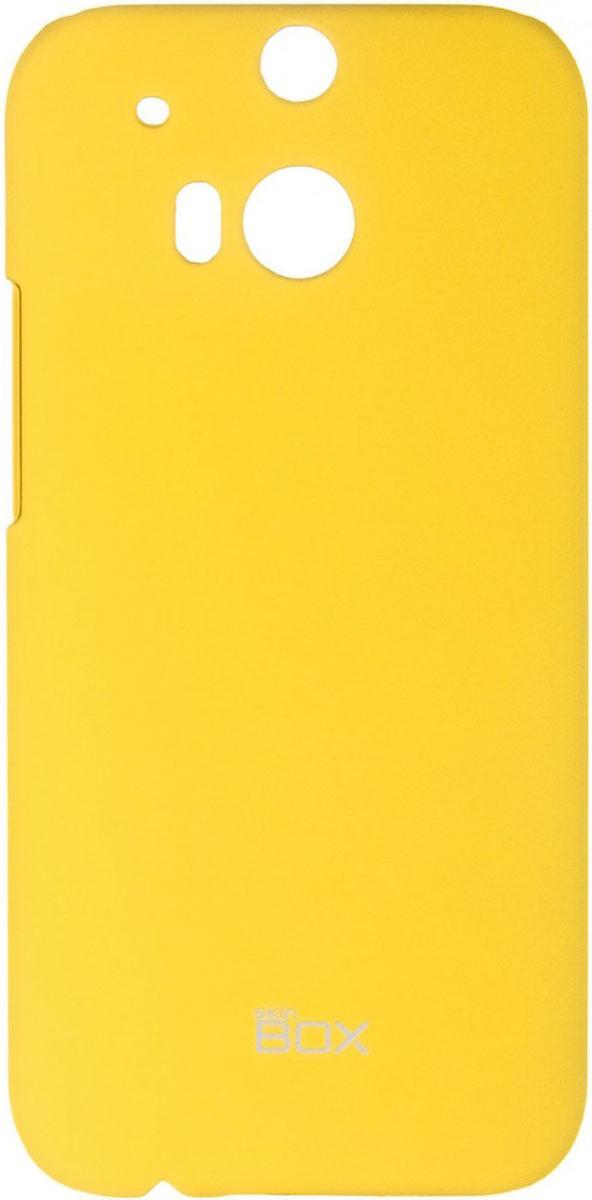 Skinbox 4People чехол для HTC One M8, YellowT-S-HOM8-002Чехол - накладка Skinbox 4People для HTC One M8 бережно и надежно защитит ваш смартфон от пыли, грязи, царапин и других повреждений. Чехол оставляет свободным доступ ко всем разъемам и кнопкам устройства. В комплект также входит защитная пленка на экран.