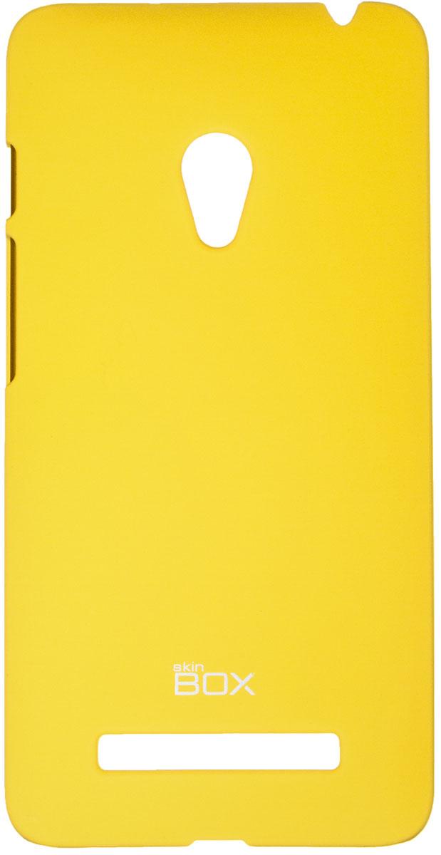 Skinbox 4People чехол для Asus ZenFone 5 A501CG, YellowT-S-AZ5-002Чехол - накладка Skinbox 4People для Asus ZenFone 5 5 A501CG бережно и надежно защитит ваш смартфон от пыли, грязи, царапин и других повреждений. Чехол оставляет свободным доступ ко всем разъемам и кнопкам устройства. В комплект также входит защитная пленка на экран.