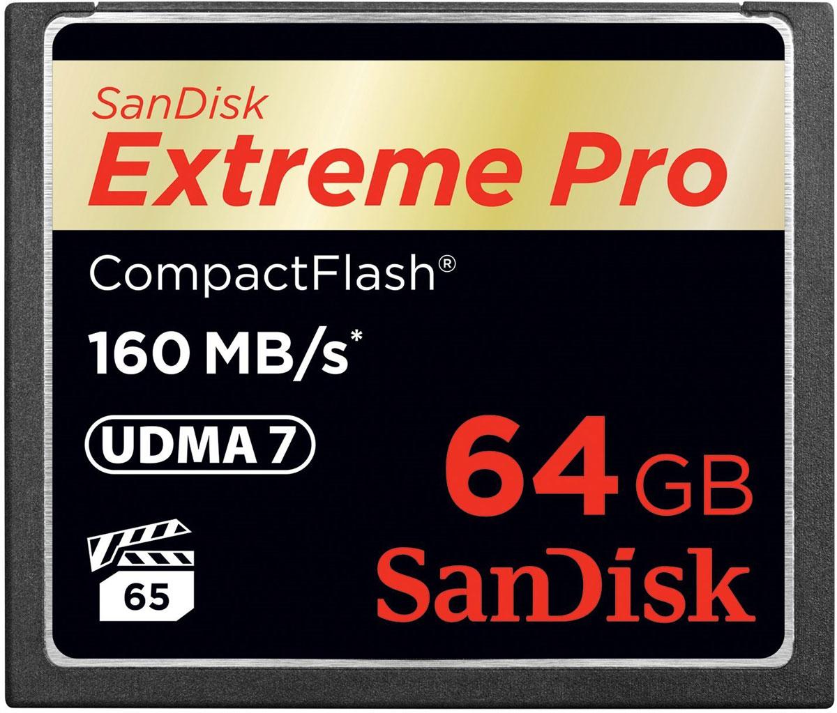 SanDisk Extreme Pro CompactFlash 64GB карта памятиSDCFXPS-064G-X46Карты памяти SanDisk Extreme PRO CompactFlash представляют собой высокопроизводительные устройства большой емкости, рассчитанные на съемку кинематографического видео. Скорость передачи данных до 160 МБ/с обеспечивает высокую производительность и эффективность, которые следует ожидать от продукции мирового лидера в сфере флеш-памяти. Эти передовые карты памяти оптимизированы для профессиональной видеосъемки и гарантируют минимальную устойчивую скорость записи 65 МБ/с для съемки видео в форматах 4K и Full HD. Емкости до 256 ГБ достаточно для хранения нескольких часов видео и тысяч изображений высокого разрешения. Чтобы вы не упустили ни одного важного момента, мы сделали эту карту памяти невосприимчивой к экстремальным температурам, ударам и другим испытаниям судьбы. Благодаря высокой надежности и быстродействию этой карты памяти вы сможете снимать быстрее, работать продуктивнее, а также в большей мере раскрывать потенциал новейших функций, таких...