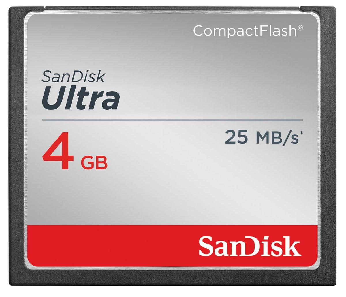 SanDisk Ultra CompactFlash 4GB карта памятиSDCFHS-004G-G46Высокая скорость передачи данных и стабильная производительность карт памяти SanDisk Ultra CompactFlash помогают полностью раскрыть потенциал фотоаппаратов, видеокамер и других устройств, рассчитанных на карты памяти CompactFlash. Емкость этих карт CompactFlash достигает 32 ГБ, чтобы вы могли вести съемку, не беспокоясь о количестве свободного места. Карты памяти SanDisk Ultra CompactFlash отличаются идеальным сочетанием надежности, цены и производительности для любителей фотографии, пользующихся зеркальными цифровыми фотоаппаратами начального и среднего уровней. Снимайте мимолетные мгновенья и экономьте время на перемещении файлов на компьютер благодаря скорости передачи данных до 50 МБ/с (8–32 ГБ). Карты памяти SanDisk Ultra CompactFlash — это надежные и высокопроизводительные устройства для съемки и хранения фотографий и видео. Поэтому фотографы по всему миру отдают предпочтение картам SanDisk, когда речь заходит о хранении важнейших воспоминаний. ...