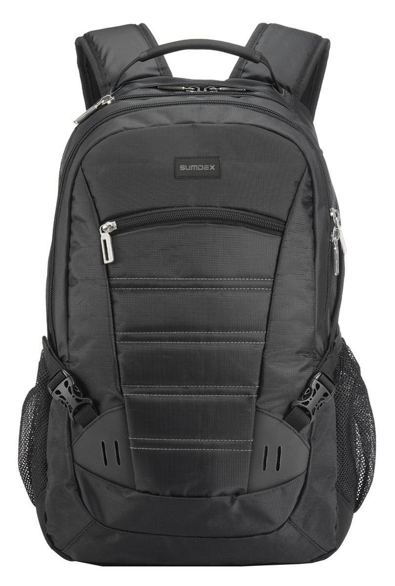 "Sumdex PON-418 BK Black, рюкзак для ноутбука 16"""