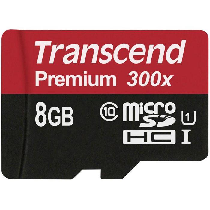 Zakazat.ru: Transcend Premium microSDHC Class 10 UHS-I 300x 8GB карта памяти (без адаптера)