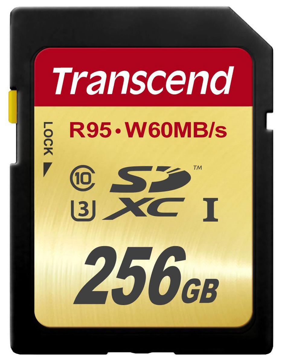 Transcend SDXC Class 10 UHS-I U3 256GB карта памяти