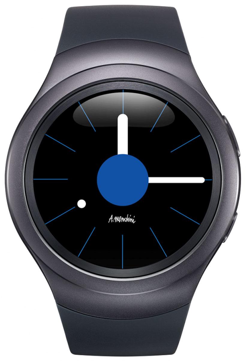 Samsung Gear S2 (SM-R720), Black смарт-часыSM-R7200ZKASERЭлегантные и стильные часы Samsung Gear S2 с прочным корпусом из нержавеющей стали идеально облегают запястье. Вы сможете легко менять циферблат и браслеты, чтобы выглядеть безупречно в любой ситуации. Благодаря творческому союзу Samsung с Алессандро Мендини дизайн Samsung Gear S2 воплощает вкус, стиль и чувство цвета великого мастера. В широком ассортименте циферблатов и браслетов вы обязательно найдете те, которые подчеркнут ваш безупречный стиль. Все самые нужные функции смартфона активируются на Gear S2 простыми движениями. Поворачивая рамку, просматривайте длинные письма, увеличивайте карту и переходите к новой композиции. Теперь любой поворот — всегда к лучшему! Samsung Gear S2 поможет вам заботиться о своем здоровье. Отслеживайте ежедневную активность, сердечный ритм и потребление воды и кофеина. Подбадривающие сообщения позволят достичь новых высот. Будьте в курсе дел, оставайтесь в форме и даже покупайте кофе с помощью Gear S2. А для подзарядки...