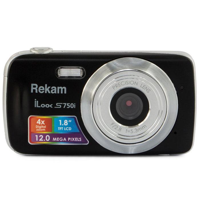 Rekam iLook S750i, Black цифровая фотокамера1108005091Rekam iLook S750i - это компактный цифровой фотоаппарат, созданный для сохранения памяти о самых ярких моментах жизни. Матрица CMOS обладает максимальным разрешением в 12 мегапикселей. Снимки, сделанные при помощи этой фотокамеры, идеальны для печати и редактирования. Rekam iLook S750i позволяет снимать видео в высоком разрешении и обладает всем необходимым для съемки в нормальных условиях. Фото сохраняются на карте памяти SD или MMC объемом до 32 Гб. Камера оборудована несколькими режимами настройки баланса белого, в том числе и автоматический. Цветной дисплей 1.8 позволит вам детально увидеть объект фото- или видеосъемки. Апертура/фокус: F2.8, f=5.3mm; 1.5 - бесконечность Зум: цифровой 4.0X Компенсация экспозиции: ±2.0EV (0.1EV/шаг) Баланс белого: Авто / Солнечно / Пасмурно / Флуоресцент / Вольфрам Автоспуск: 10 с Вспышка: авто / принудительно / выкл.