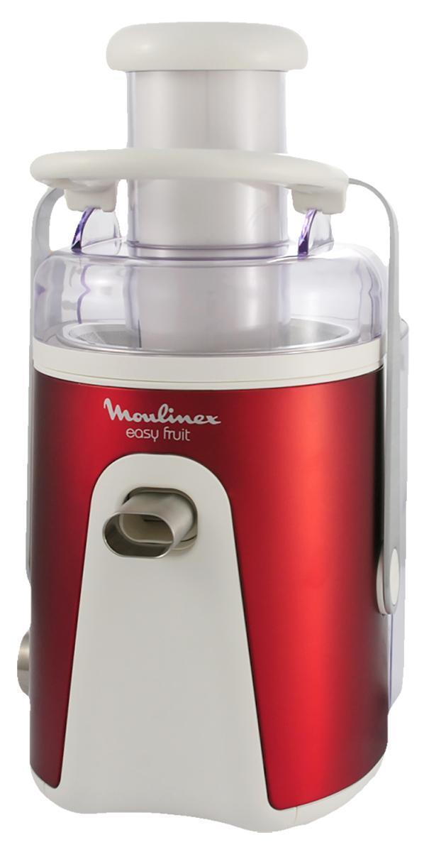 Moulinex JU585 соковыжималкаJU585Для защиты от случайного включения предусмотрена специальная скоба: если она не зафиксирована – прибор не включится. Свежевыжатые соки не только вкуснее магазинных, но и содержат на порядок больше витаминов. Соковыжималка Moulinex JU 585 будет каждый день обеспечивать вас и ваших близких вкусными и полезными напитками. Электрическая соковыжималка Moulinex JU 585 круглый год будет обеспечивать вас витаминными напитками. Данная модель универсальна: может выжимать сок из ягод, овощей, фруктов и цитрусовых. Жмых автоматически выбрасывается в специальный контейнер. Готовый сок можно наливать непосредственно в чашку через специальный носик, который имеет защиту от протекания.