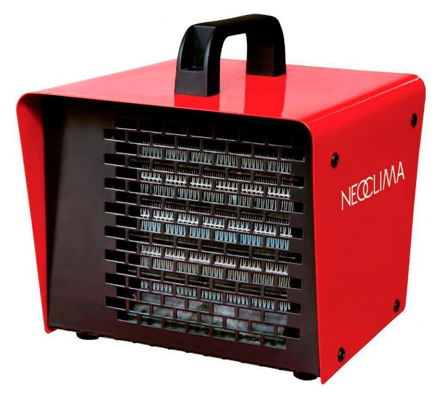 Neoclima KX-3 тепловая пушка25328Тепловентилятор Neoclima KX-3 - компактная электрическая тепловая пушка с керамическим нагревательным элементом. Тепловая пушка Neoclima KX-3 с керамическим нагревательным элементом эффективно обогревает и не сушит воздух.
