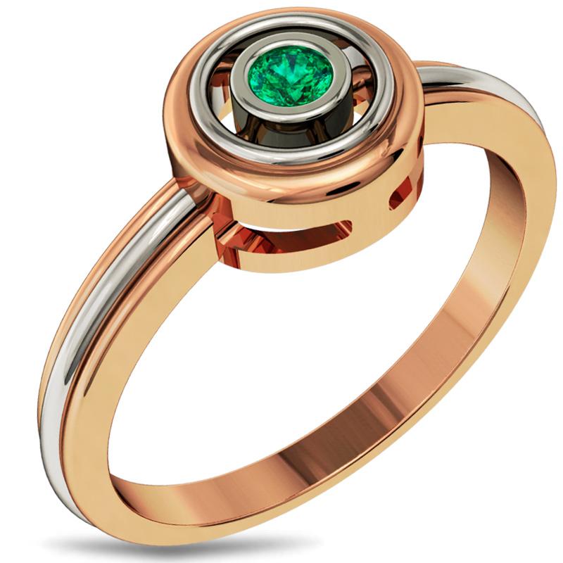 Золотое кольцо с изумрудом купить