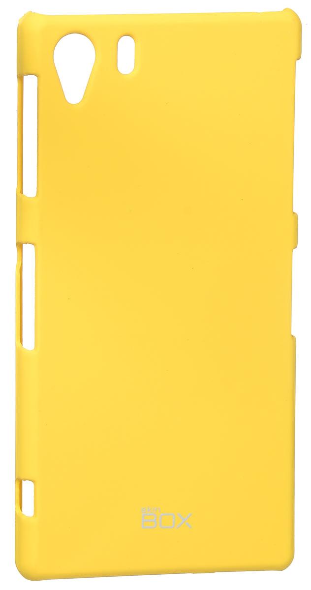 Skinbox 4People чехол для Sony Xperia i1, YellowT-S-Si1-002Чехол - накладка Skinbox 4People для Sony Xperia i1 бережно и надежно защитит ваш смартфон от пыли, грязи, царапин и других повреждений. Чехол оставляет свободным доступ ко всем разъемам и кнопкам устройства. В комплект также входит защитная пленка на экран.