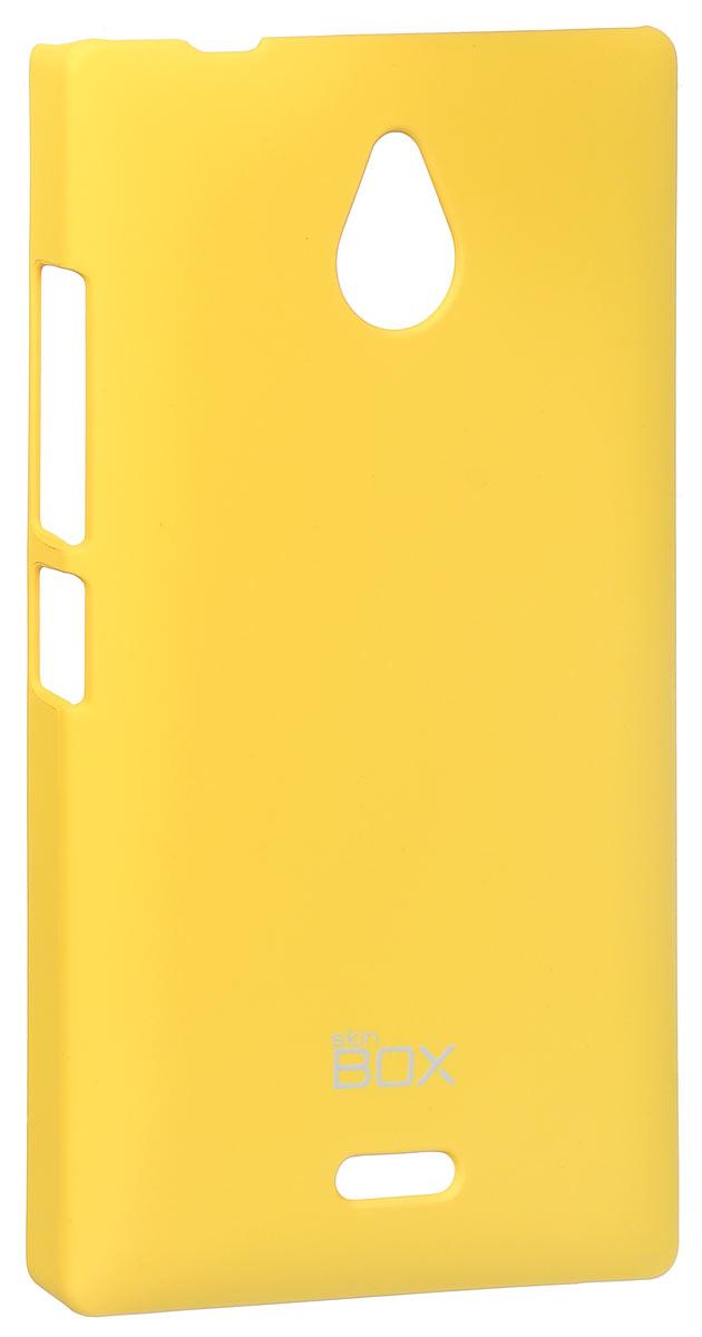 Skinbox 4People чехол для Nokia X2, YellowT-S-NX2-002Накладка Skinbox 4People для Nokia X2 выполнена из высококачественного поликарбоната. Она бережно и надежно защитит ваш смартфон от пыли, грязи, царапин и других повреждений. Чехол оставляет свободным доступ ко всем разъемам и кнопкам устройства.