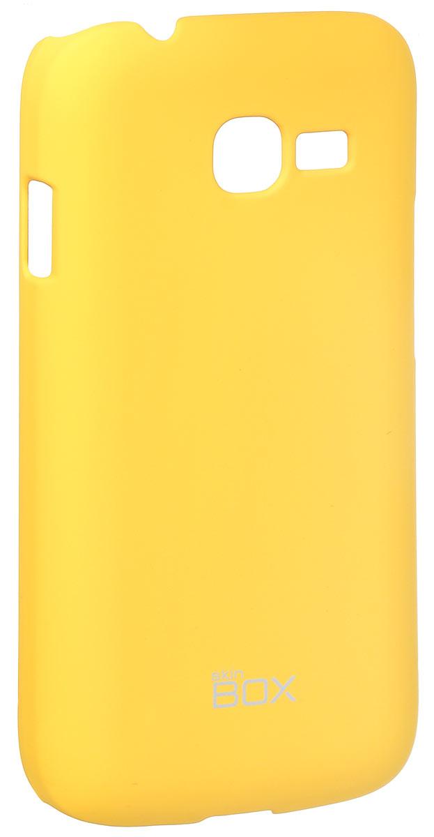 Skinbox 4People чехол для Samsung S726x Galaxy Star Plus, YellowT-S-SS726x-002Чехол-накладка Skinbox 4People для Samsung S726x Galaxy Star Plus бережно и надежно защитит ваш смартфон от пыли, грязи, царапин и других повреждений. Чехол оставляет свободным доступ ко всем разъемам и кнопкам устройства. В комплект также входит защитная пленка на экран.