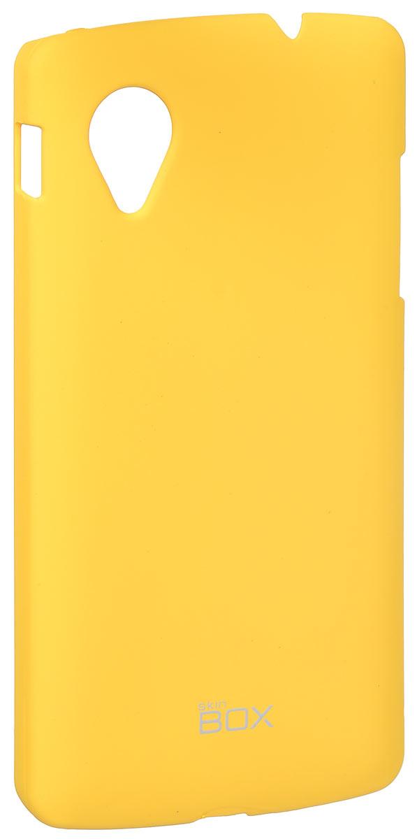 Skinbox 4People чехол для LG Nexus 5, YellowT-S-LN5-002Накладка Skinbox 4People для LG Nexus 5 выполнена из высококачественного поликарбоната. Она бережно и надежно защитит ваш смартфон от пыли, грязи, царапин и других повреждений. Чехол оставляет свободным доступ ко всем разъемам и кнопкам устройства.