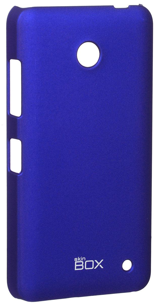 Skinbox 4People чехол для Nokia Lumia 630/635, BlueT-S-NL635-002Накладка Skinbox 4People для Nokia Lumia 630/635 выполнена из высококачественного поликарбоната. Она бережно и надежно защитит ваш смартфон от пыли, грязи, царапин и других повреждений. Чехол оставляет свободным доступ ко всем разъемам и кнопкам устройства.