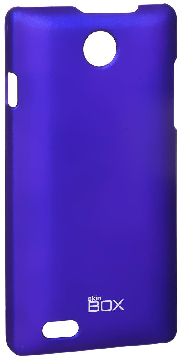 Skinbox 4People чехол для ZTE v815W, BlueT-S-v815W-002Чехол-накладка Skinbox 4People для ZTE v815W бережно и надежно защитит ваш смартфон от пыли, грязи, царапин и других повреждений. Чехол оставляет свободным доступ ко всем разъемам и кнопкам устройства. В комплект также входит защитная пленка на экран.