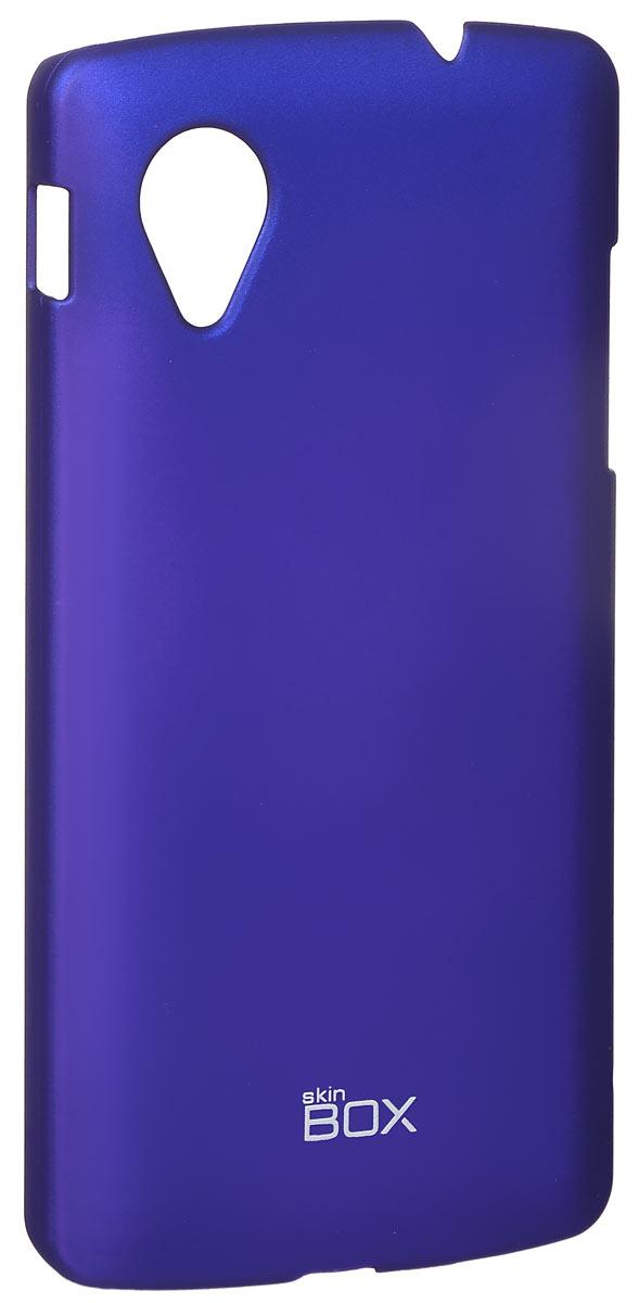 Skinbox 4People чехол для LG Nexus 5, BlueT-S-LN5-002Накладка Skinbox 4People для LG Nexus 5 выполнена из высококачественного поликарбоната. Она бережно и надежно защитит ваш смартфон от пыли, грязи, царапин и других повреждений. Чехол оставляет свободным доступ ко всем разъемам и кнопкам устройства.