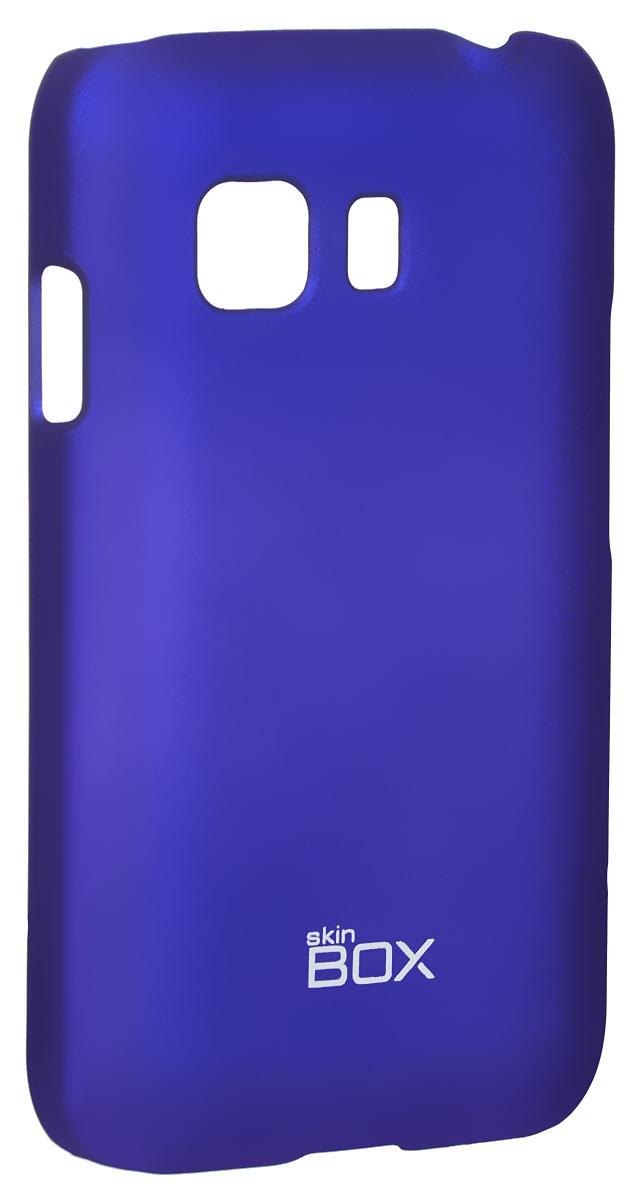 Skinbox 4People чехол для Samsung Galaxy Young 2 SM-G130H, BlueT-S-SGY2-002Чехол-накладка Skinbox 4People для Samsung Galaxy Young 2 SM-G130H бережно и надежно защитит ваш смартфон от пыли, грязи, царапин и других повреждений. Чехол оставляет свободным доступ ко всем разъемам и кнопкам устройства. В комплект также входит защитная пленка на экран.