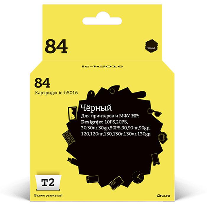 T2 IC-H5016 картридж для HP DesignJet 10PS/20PS/30/50PS/90/120/130 (№84), Black