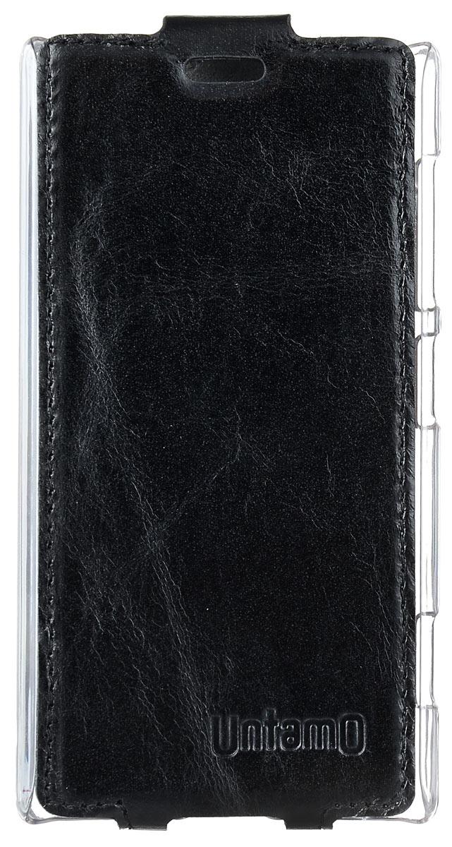 Untamo Timber чехол-флип для Nokia Lumia 720, Black (UTIMF720BL)
