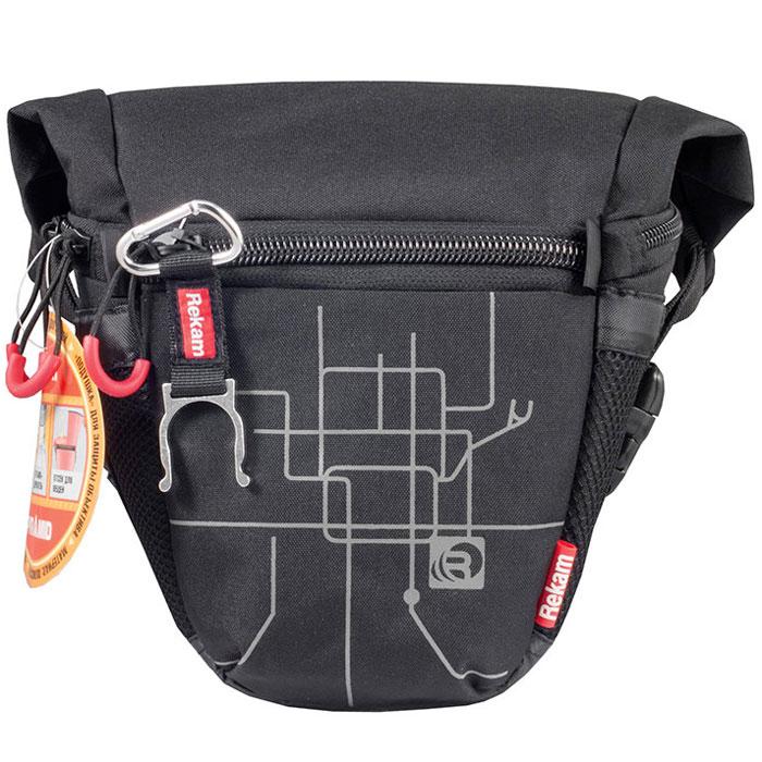 Rekam Pyramid RBX-51, Black сумка для фотокамеры1401101171Стильная, эргономичная сумка Rekam Pyramid RBX-51 предназначена для небольшой зеркальной фотокамеры. Прочный материал, надежные молнии и крепления, обеспечивают максимальную защиту фототехники. Удобные отсеки и карманы позволяют разместить дополнительные аксессуары. Отсек для личных вещей, сделанный в форме мягкого раструба, при необходимости удобно складывается, и не занимает лишнего места.