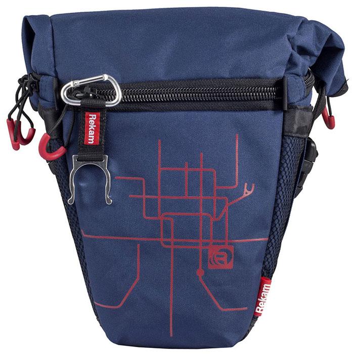 Rekam Pyramid RBX-53, Blue сумка для фотокамеры1401101193Стильная, эргономичная сумка Rekam Pyramid RBX-53 предназначена для зеркальной фотокамеры средних размеров. Прочный материал, надежные молнии и крепления, обеспечивают максимальную защиту фототехники. Удобно расположенные отсеки и карманы позволяют разместить пару аксессуаров. Отсек для личных вещей, сделанный в форме мягкого раструба, при необходимости удобно складывается, и не занимает лишнего места.