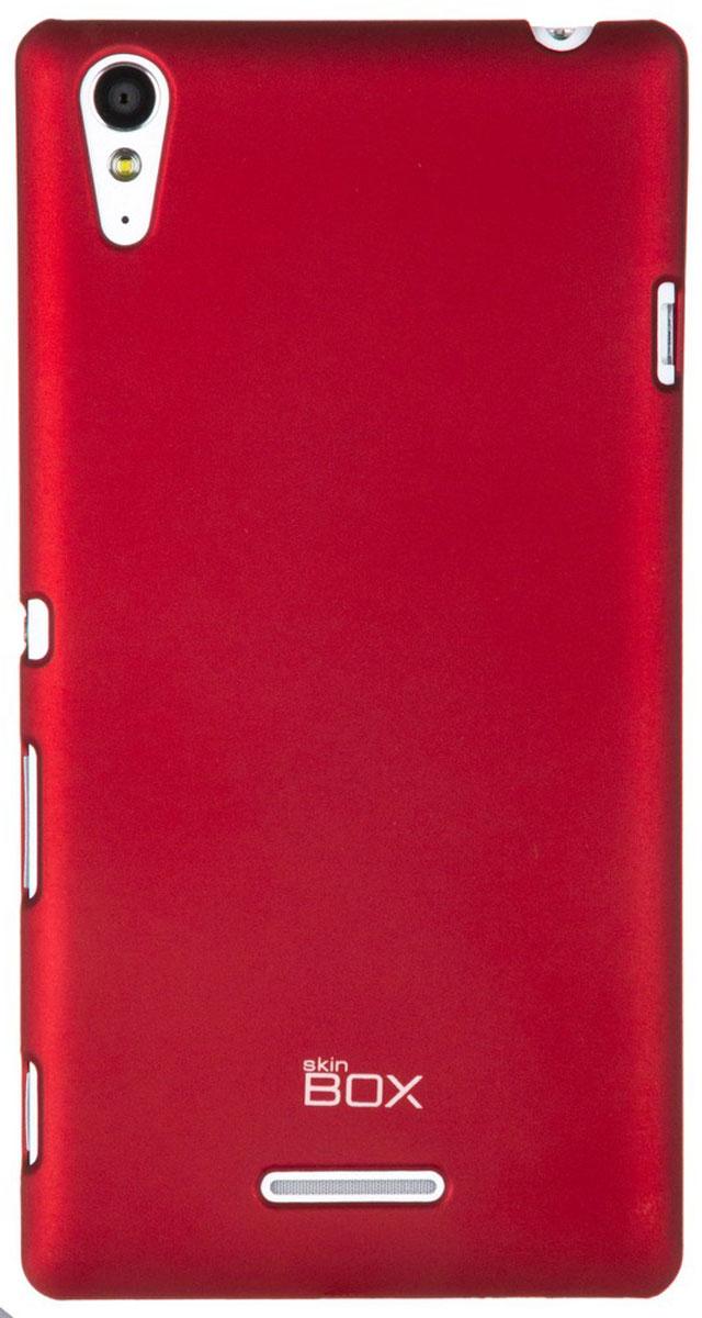 Skinbox 4People чехол для Sony Xperia T3, RedT-S-SXT3-002Чехол-накладка Skinbox 4People для Sony Xperia T3 бережно и надежно защитит ваш смартфон от пыли, грязи, царапин и других повреждений. Чехол оставляет свободным доступ ко всем разъемам и кнопкам устройства. В комплект также входит защитная пленка на экран.