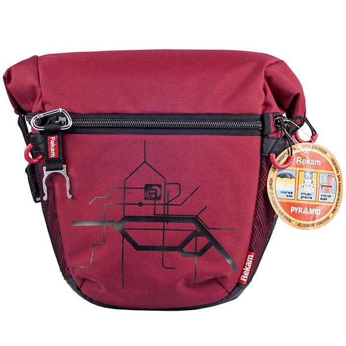 Rekam Pyramid RBX-59, Red сумка для фотокамеры1401101252Стильная, эргономичная сумка Rekam Pyramid RBX-59 предназначена для зеркальной фотокамеры. Прочный материал, надежные молнии и крепления, обеспечивают максимальную защиту фототехники. Дополнительные отсеки и карманы позволяют разместить выносную фотовспышку и пару аксессуаров. Благодаря отсеку для личных вещей, который при необходимости удобно складывается и не занимает места, сумка отлично подходит для отдыха и путешествий.