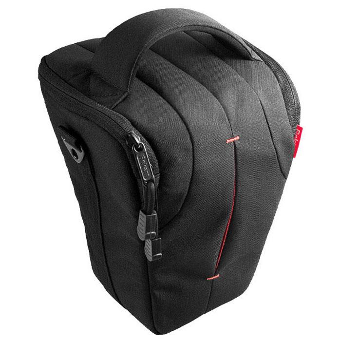 Rekam C7 сумка для фотокамеры1401100017В производстве сумки Rekam C7 используются легкие, прочные и приятные на ощупь материалы. Регулируемые, съемные разделители, позволяют надежно расположить технику и защищать ее от механических воздействий. Дополнительные детали обеспечивают особое удобство сумок: это и внутренние карманы под откидной крышкой для карт памяти, элементов питания и небольших аксессуаров, и металлические ушки крепления для плечевого ремня. Также для удобства переноски предусмотрены петля для крепления на пояс и пластиковое укрепление дна. В комплект входит съемный регулируемый плечевой ремень c прорезиненной противоскользящей накладкой.