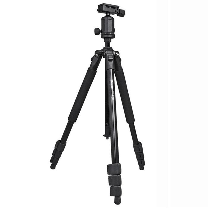 Rekam RT-P30 штатив1213000010Rekam RT-P30 - профессиональный штатив начального уровня. Шаровая голова с цифровой шкалой обеспечивает высокую степень свободы и точность при проведении панорамной съемки. При помощи быстросъемной площадки, устанавливать и снимать камеру очень удобно. Длинна ног регулируется клипсовыми замками. Независимый угол наклона ног обеспечивает большую свободу в выборе положения. Мягкие муфты обеспечивают удобный захват и комфортную работу со штативом. Голова штатива съемная. Закрепив ее на нижней части центральной штанги, можно проводить макросъемку. Центральная штанга оборудована подъемником с фиксатором, что позволяет оперативно менять высоту. Многослойное, матовое покрытие черного цвета, имеет нтибликовый эффект и защищает штатив от механических повреждений. В комплект входит удобная сумка-чехол. Индивидуальная регулировка высоты ног Независимый угол наклона ноги Сечение ноги: многогранное Мягкие муфты Макросъемка Подъемник с...