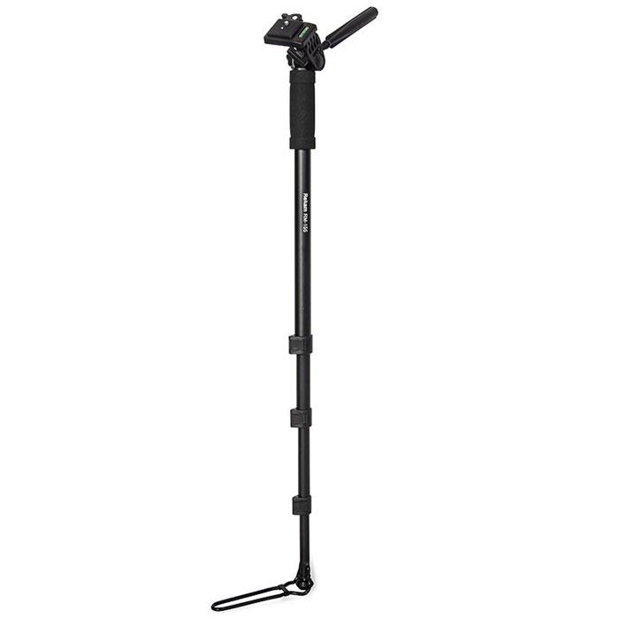 Rekam RM-155 штатив1214000111Монопод Rekam RM-155, как и штативы, применяется для стабилизации фотокамеры при фотосъемке. Основная особенность, отличающая монопод от штатива – наличие одной опорной ноги. Монопод не избавляет фотоаппарат от шевеленки полностью, тем не менее, позволяет поставить выдержку на один-два стопа большую, нежели при съемке с рук. Главное преимущество монопода – мобильность; фотограф со штативом фактически привязан к одной точке (сворачивание-установка штатива занимает около минуты), в то время как с моноподом он может двигаться, отыскивая подходящие ракурсы. Все модели моноподов имеют удобные и жесткие фиксаторы для изменения высоты ноги, а также легкую и прочную сумку-чехол, для переноса и защиты от механических повреждений. Очень удобно использовать монопод для репортажной съёмки. В этом случае он просто незаменим, так как при большом скоплении людей, просто нет возможности установить штатив.
