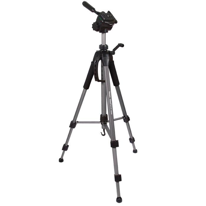 Rekam MaxiPod RT-M49G штатив1212001800Rekam MaxiPod RT-M49G – универсальный, 3-секционный штатив из серии MaxiPod. Устойчивая, 3-секционная конструкция выдерживает нагрузку до 4 кг. Благодаря многогранному сечению ног штатив обладает дополнительным запасом прочности. Панорамная 3D голова обеспечивает плавное, равномерное перемещение камеры в трех плоскостях, и может использоваться для видеосъемки. Конструкция головы позволяет поворачивать камеру для съемки вертикальных кадров. Управление головой осуществляется при помощи ручки. Конструкция с реечными растяжками помогает быстро разложить штатив в ровном положении. Два жидкостных уровня, - для горизонтального и вертикального выравнивания, расположены на голове и на основании треноги. Быстросъемная площадка надежно фиксируется и позволяет оперативно устанавливать и снимать камеру. Высота ног Rekam MaxiPod RT-M49G фиксируется при помощи удобных клипсовых зажимов. Для оперативной регулировки высоты центральная колонна оснащена обжимным...