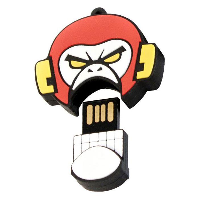 USBSOUVENIR Evil Monkey 16GB, White Red USB-накопитель
