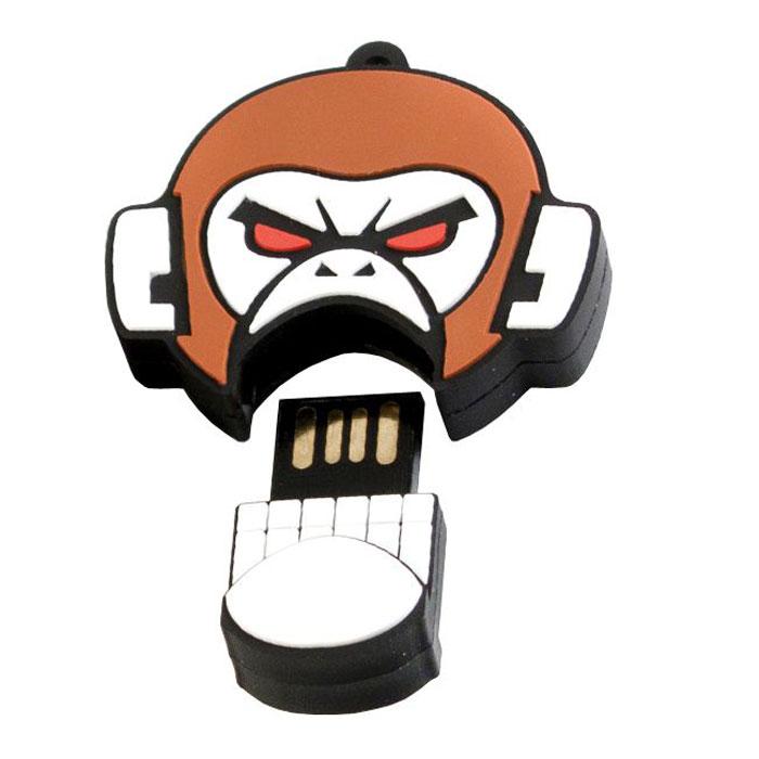 USBSOUVENIR Evil Monkey 64GB, White Brown USB-накопительAP-EVILMONKEY-64GB-WBФлеш-накопитель USBSOUVENIR Evil Monkey имеет весьма нестандартный дизайн. Накопитель ударопрочный и защищен резиновым корпусом, а высокая пропускная способность и поддержка различных операционных систем делают его незаменимым. USBSOUVENIR Evil Monkey - отличный выбор современного творческого человека, который любит яркие и нестандартные вещи.