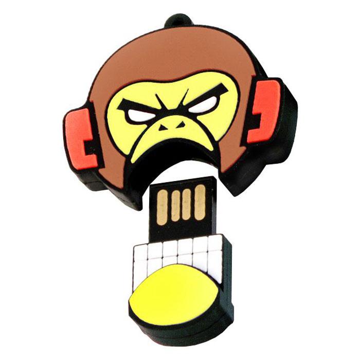 USBSOUVENIR Evil Monkey 64GB, Yellow Brown USB-накопительAP-EVILMONKEY-64GB-YBФлеш-накопитель USBSOUVENIR Evil Monkey имеет весьма нестандартный дизайн. Накопитель ударопрочный и защищен резиновым корпусом, а высокая пропускная способность и поддержка различных операционных систем делают его незаменимым. USBSOUVENIR Evil Monkey - отличный выбор современного творческого человека, который любит яркие и нестандартные вещи.