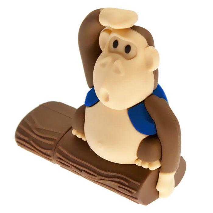 USBSOUVENIR Monkeytree 64GB, Blue USB-накопительAP-MONKEYTREE-64GB-BLUSB-накопитель USBSOUVENIR Monkeytree выполнен в виде забавной обезьянки, сидящей на дереве. Резиновый корпус с покрытием Soft touch обеспечивает надежную защиту от влаги, пыли и повреждений. Накопитель Monkeytree - отличный выбор современного творческого человека, который любит яркие и нестандартные вещи.