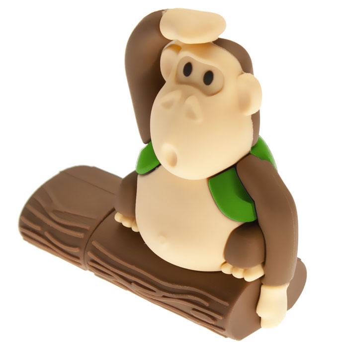 USBSOUVENIR Monkeytree 64GB, Green USB-накопительAP-MONKEYTREE-64GB-GRUSB-накопитель USBSOUVENIR Monkeytree выполнен в виде забавной обезьянки сидящей на дереве. Резиновый корпус с покрытием Soft touch обеспечивает надежную защиту от влаги, пыли и повреждений. Накопитель Monkeytree - отличный выбор современного творческого человека, который любит яркие и нестандартные вещи.