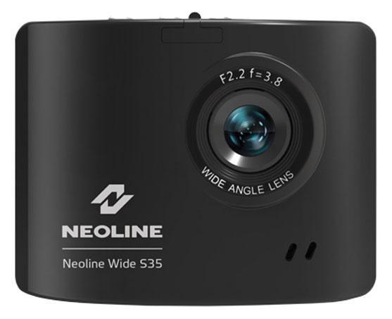 Neoline Wide S35, Black видеорегистраторWide S35Благодаря мощному процессору AIT8427, производства Тайвань и матрице в 5 Мп MI 5100 эта техническая база позволяет видеорегистратору снимать видео высокой четкости , детальное отображения Гос. номеров других участников движения это явное преимущество в спорных ситуациях на дороге. Улучшенная ночная съемка позволяет отобразить темные объекты даже на малоосвещенных дорогах.Несмотря на очень компактные размеры устройства экран занимает практически всю заднюю часть корпуса, на дисплее в 2 дюйма удобно просматривать отснятое видео или фотографии, пользоваться удобным и наглядным интерфейсом.Угол обзора в 140 градусов позволяет отображать происходящее во время движения на 4-х полосной дороге и на обочине. Антивибрационный режим прибора позволяет снизить шумы при съемке и стабилизировать изображение на неровных участках дороги, увеличивая четкость снимаемого видео.АКБ емкостью 350 мАч позволит автономно работать устройству до 20 минут после отключения двигателя не используя заряд...