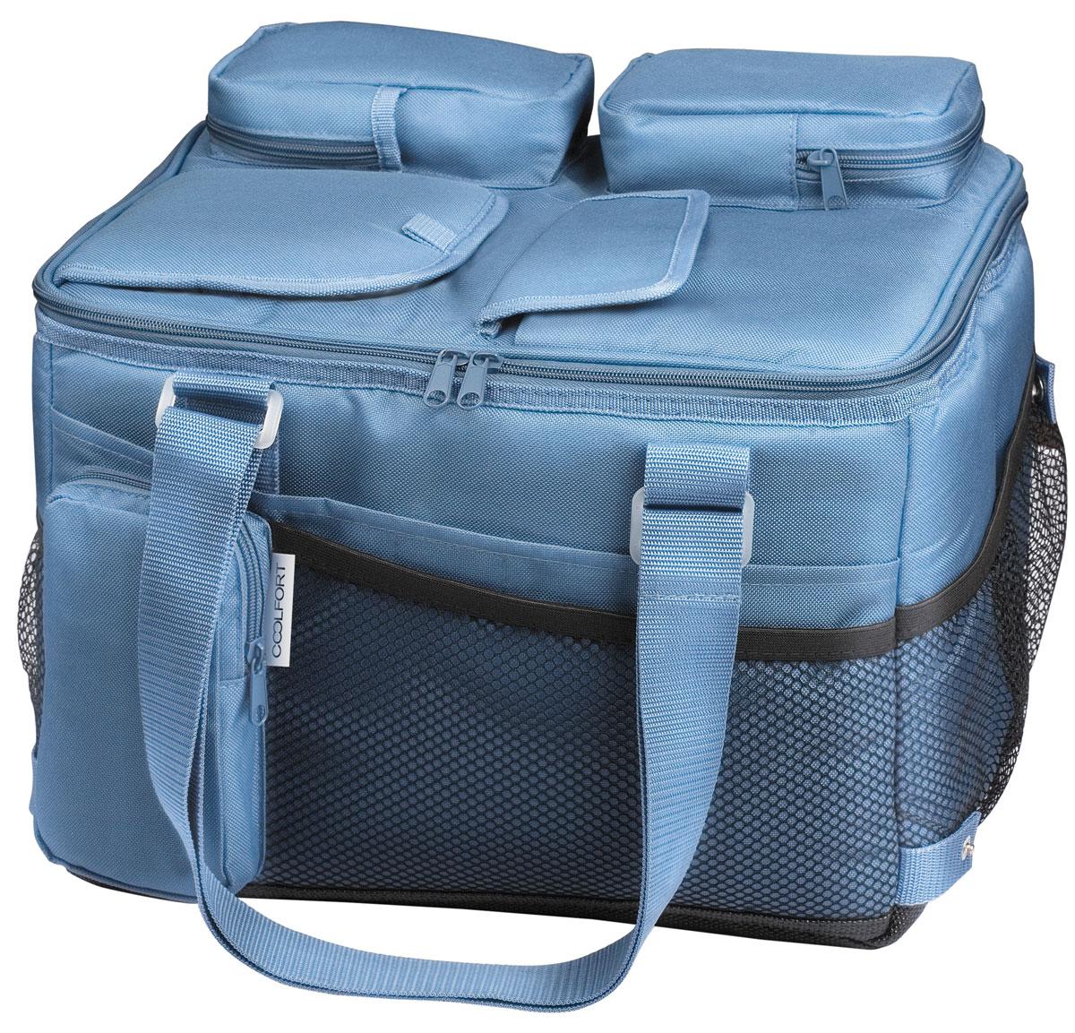 Coolfort CF-1221 cумка-холодильник объем 21 л1221-CF-01Термоэлектрическая сумка-холодильник Coolfort СF-1221. Эта модель обладает достаточно компактными размерами, поэтому вполне найдет себе применение не только в качестве устройства, которое необходимо при выезде на природу или за город, но и в качестве мобильного холодильника в автомобиле. С помощью аккумулятора Coolfort CF-1221 может эффективно охлаждать внутреннее пространство на 15 градусов по отношению к окружающему воздуху. После отключения устройства заданная температура поддерживается благодаря уникальной технологии THERMOFORT. Система вентиляции двусторонняя, что позволяет ей действовать более эффективно. Для того чтобы было удобнее хранить шнур и адаптер, в конструкции этой сумки холодильника предусмотрены специальные карманы. Это помогает всегда держать нужные элементы под рукой. Ручка для переноса может регулироваться по длине, что позволяет сделать это устройство еще более удобным при транспортировке. Если моделью не планируется пользоваться в течение...