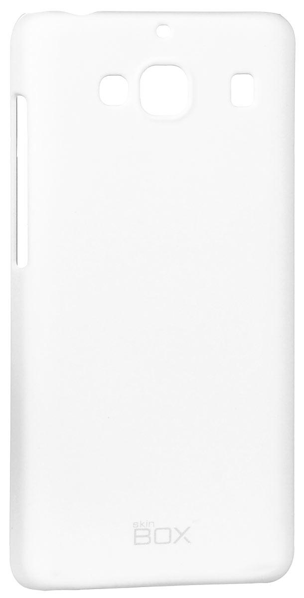 Skinbox 4People чехол для Xiaomi Redmi 2, WhiteT-S-XR2-002Накладка Skinbox 4People для Xiaomi Redmi 2 выполнена из высококачественного поликарбоната. Она бережно и надежно защитит ваш смартфон от пыли, грязи, царапин и других повреждений. Чехол оставляет свободным доступ ко всем разъемам и кнопкам устройства.