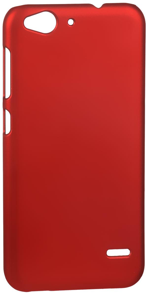 Skinbox 4People чехол для ZTE Blade S6, RedT-S-ZBS6-002Накладка Skinbox 4People для ZTE Blade S6 выполнена из высококачественного поликарбоната. Она бережно и надежно защитит ваш смартфон от пыли, грязи, царапин и других повреждений. Чехол оставляет свободным доступ ко всем разъемам и кнопкам устройства.
