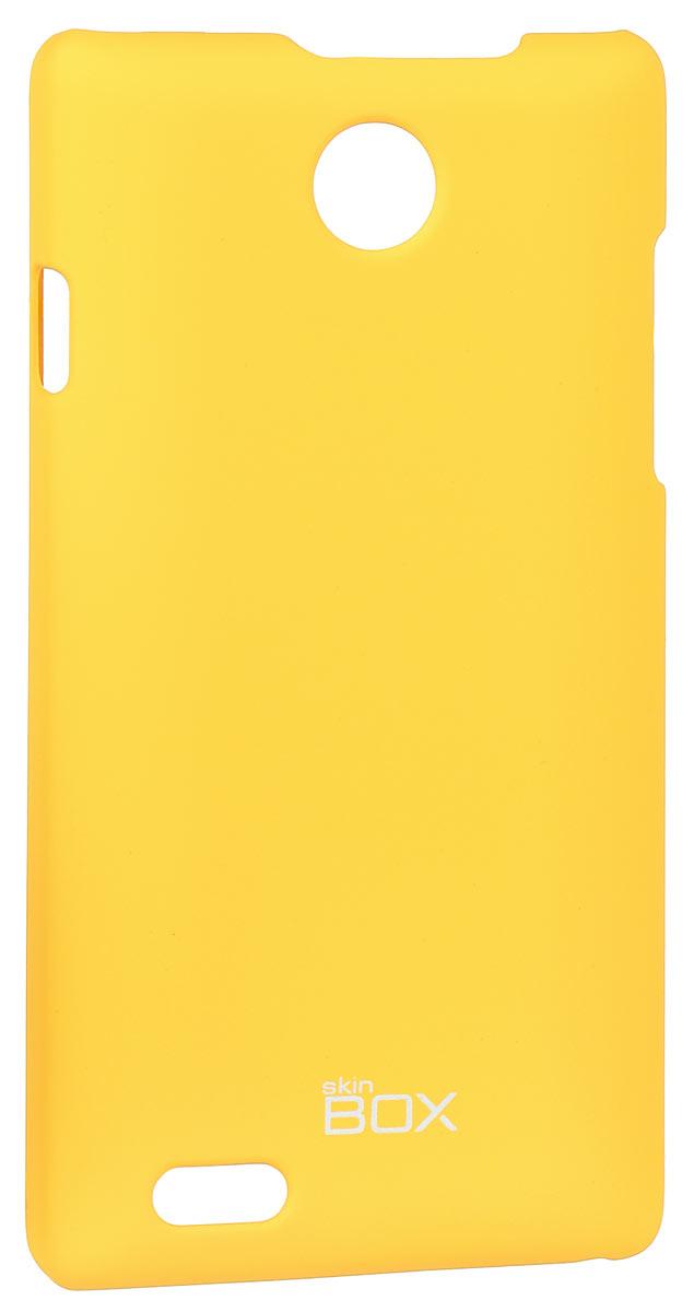 Skinbox 4People чехол для ZTE v815W, YellowT-S-v815W-002Чехол-накладка Skinbox 4People для ZTE v815W бережно и надежно защитит ваш смартфон от пыли, грязи, царапин и других повреждений. Чехол оставляет свободным доступ ко всем разъемам и кнопкам устройства.