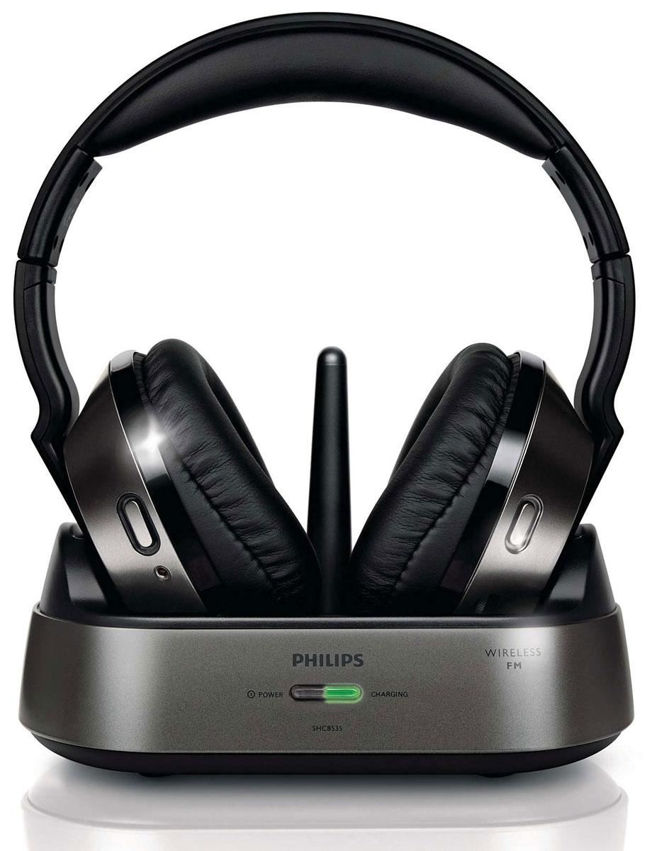 Philips SHC8535/10, Black беспроводные наушникиSHC8535/10Слушайте любимую музыку дома и наслаждайтесь свободой движения. Стереонаушники Philips SHC8535/10 с воспроизведением звука высокой точности обеспечат непревзойденное удобство. Насладитесь удобной подгонкой и ощутите лучшее звучание басов благодаря регулируемых в трех направлениях амбушюр, которые естественно прилегают к вашим ушам. 40-мм излучатель выполнен из композитного материала майлара для высокой чувствительности и мощности элемента, который обеспечивает звучание без слышимых искажений. Полноразмерные чашки наушников не только закрывают все ухо, что улучшает качество звучания, но также в них достаточно места для более крупного и эффективного излучателя. Благодаря беспроводной FM-передаче высоких частот, которые проходят и сквозь стены, можно слушать музыку, даже находясь в другой комнате. Тип магнита: неодимовый Отношение сигнал/шум: 70 дБ Индикатор уровня заряда батареи Автовыключение Время работы: до 15 часов Индикатор состояния батареи Режим...