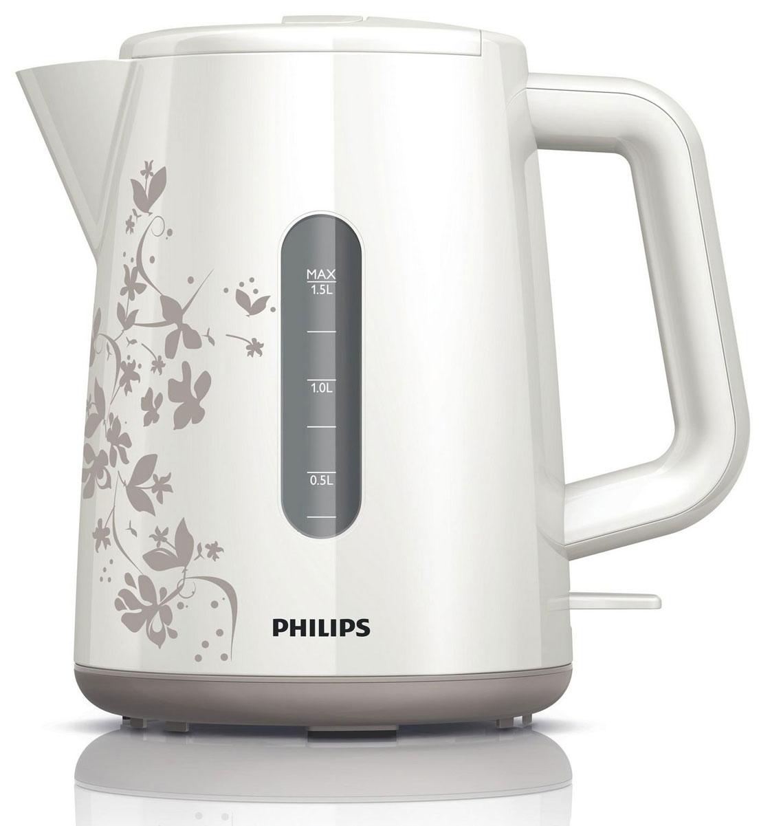 Philips HD9304/13 электрочайникHD9304/13Не правда ли, здорово за считаные секунды вскипятить воду и без лишних усилий очистить чайник? Плоский нагревательный элемент позволяет быстро вскипятить воду и прост в очистке. Благодаря моющемуся фильтру очистки от накипи вода становится чистой, а напитки - без частиц известкового осадка. Широко открывающаяся откидная крышка для удобства наполнения и чистки чайника Широко открывающаяся откидная крышка для удобства наполнения и чистки чайника исключает контакт с паром. Индикаторы уровня воды с двух сторон чайника Индикаторы уровня воды по обеим сторонам электрического чайника Philips будут удобны и для правшей, и для левшей. Беспроводная подставка с поворотом на 360° для удобства использования. Наполнить чайник можно через носик или открыв крышку. Фильтр для защиты от накипи обеспечивает чистоту воды и чайника. Катушка для удобного хранения шнура Шнур оборачивается вокруг основания, что позволяет...