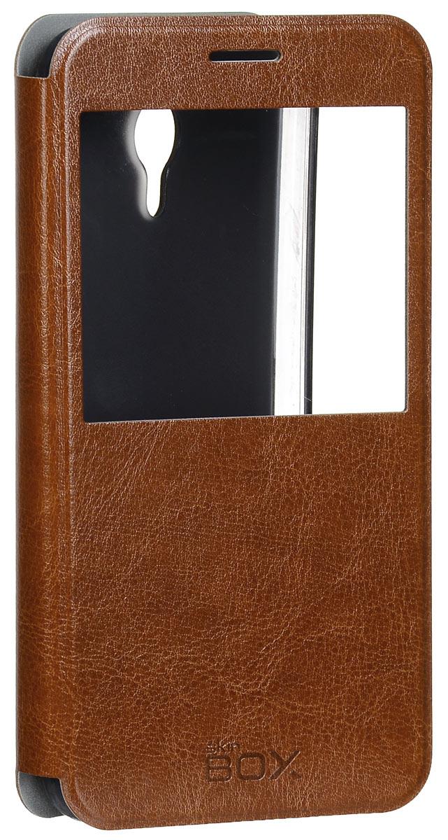 Skinbox Lux AW чехол для Meizu M2 Note, BrownT-S-MM2N-004Чехол Skinbox Lux AW выполнен из высококачественного поликарбоната и экокожи. Он обеспечивает надежную защиту корпуса и экрана смартфона и надолго сохраняет его привлекательный внешний вид. Чехол также обеспечивает свободный доступ ко всем разъемам и клавишам устройства.