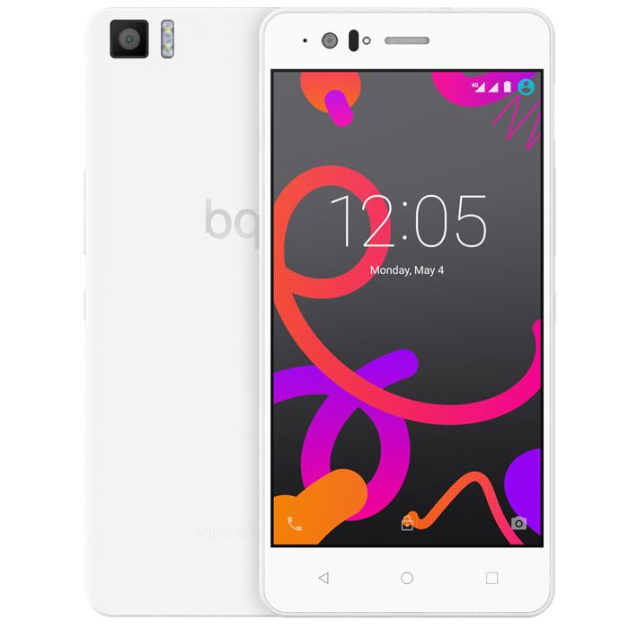 BQ Aquaris M5 16+3GB, WhiteC000085Производительный смартфон BQ Aquaris M5 оснащен 8-ядерным процессором Qualcomm Snapdragon 615 с частотой 1.5 ГГц. Он работает под управлением Android 5.1 Lollipop и поддерживает высокоскоростной стандарт сотовой связи 4G. Два слота для micro-SIM карт позволяют пользоваться услугами двух разных операторов мобильной связи. Отклик на нажатие был улучшен благодаря сенсору Atmel maXTouch, который увеличивает чувствительность экрана и позволяет без каких-либо помех пользоваться телефоном в перчатках или во влажных условиях. Также этот сенсор может распознавать до 10 одновременных точек нажатия. Использование технологии Quantum Color + позволило достигнуть отличных показателей цветового спектра (почти 90% NTSC). Сам экран покрыт трехслойным покрытием GFF (Glass-Film-Film) с защитным слоем Dragontrail. Фронтальная камера 5 Мпикс с углом обзора 85° и вспышкой позволяет снимать отличные селфи. Основная камера разрешением 13 Мпикс имеет диафрагму f/2.0 и...