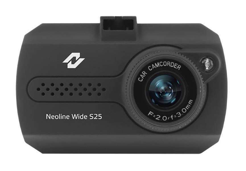 Neoline Wide S25, Black видеорегистраторWide S25NEOLINE WIDE S25. Компактный и доступный по цене автомобильный видеорегистратор Neoline Wide S25 с 1,5-дюймовым LCD-дисплеем и возможностью записи видео в оптимальном разрешении 1280x720 со скоростью 30 кадров в секунду обеспечит вашу безопасность на дорогах. Качество видео Full HD. Neoline Wide S25 записывает видео в разрешении Full HD (1920x1080 точек 25 к/с) и в HD качестве (1280x720 точек, 30 к/с). Этого достаточно, чтобы рассмотреть номера машин и особенности дорожной разметки, а также во всех подробностях восстановить картину дорожного происшествия. Компактный размер. Neoline Wide S25 по размеру не больше спичечного коробка, поэтому не будет загораживать водителю обзор и отвлекать от дороги. Устанавливается видеорегистратор на лобовом стекле с помощью стандартного подвижного крепления с присоской. Дисплей 1.5 дюйма. LCD-дисплей видеорегистратора Neoline Wide S25 с диагональю 1.5 дюйма позволяет корректно настроить устройство и отрегулировать обзор...